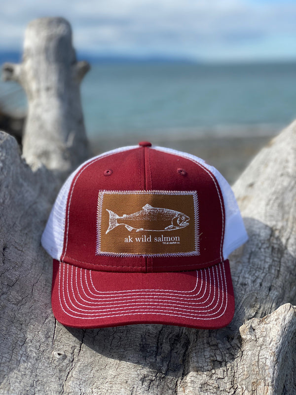 Autumn AK Wild Salmon Patch Hat 35.00