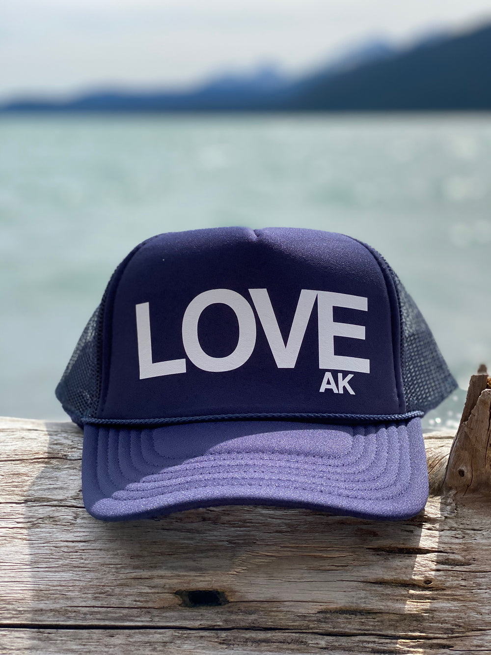 Navy with white LOVE $35.00