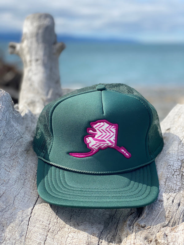 Forest Feathers Alaska Map Hat