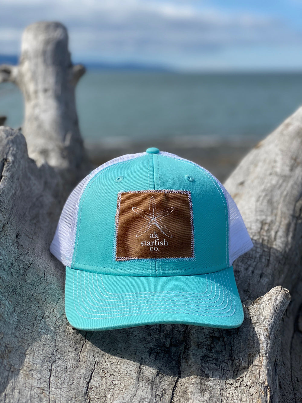 Glacier AK Starfish Co. Patch Hat $35.00