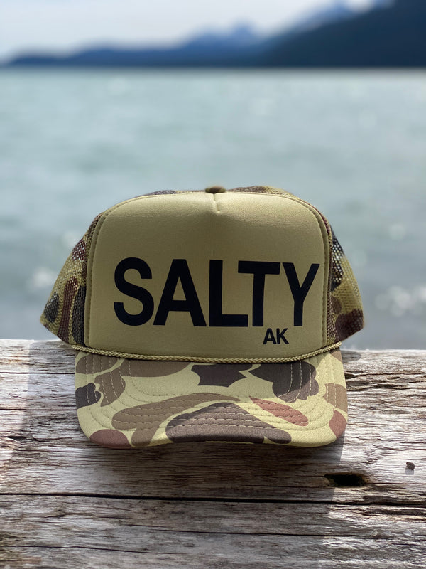 Camo with Black SALTY  Hat