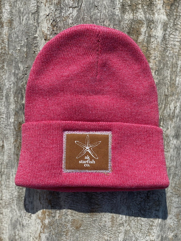 Beach Red AK Starfish Co. Patch Beanie $35.00