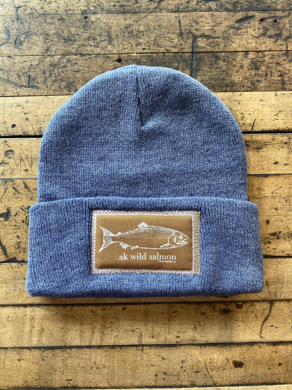 Beach Midnight AK Wild Salmon Patch Beanie $35.00