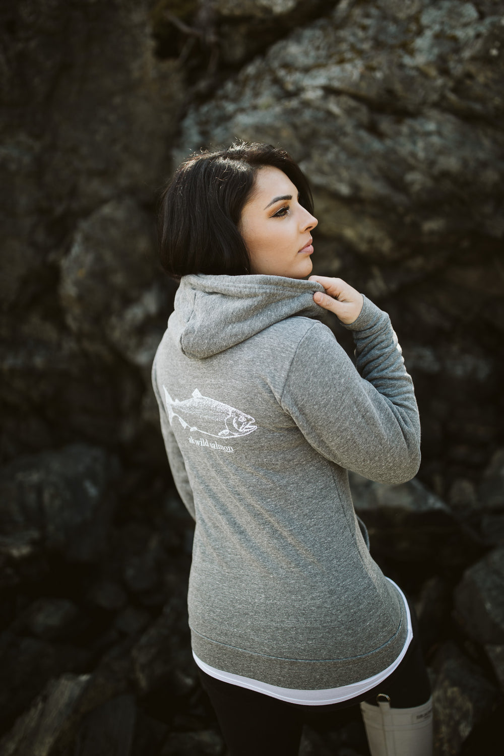Storm AK Wild Salmon Co. Triblend Zipped Hoody $65.00