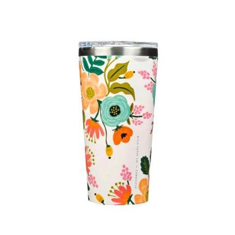 Tumbler Corkcicle Rifle paper Lively Floral Cream