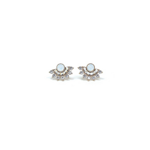 Boucles Nico Fan blanc opal