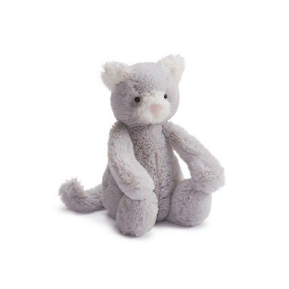 Chat Jellycat Bashful gris