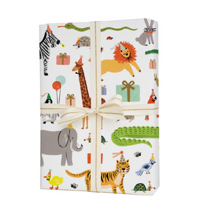 papier emballage Rifle Paper co. animaux fête