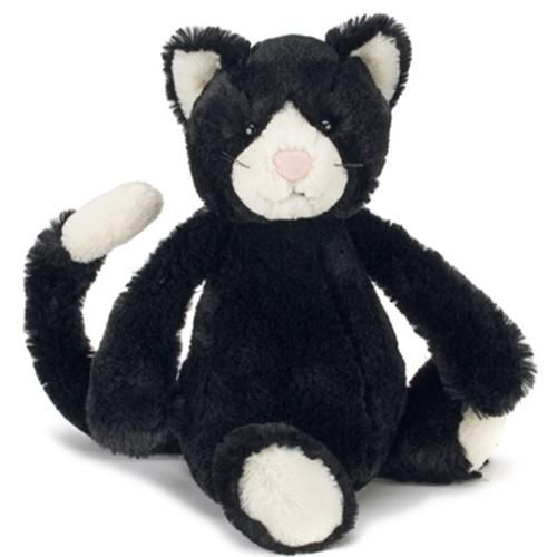peluche chat noir blanc jellycat bashful medium
