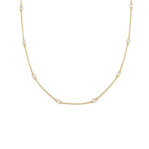 Collier Zircon clair