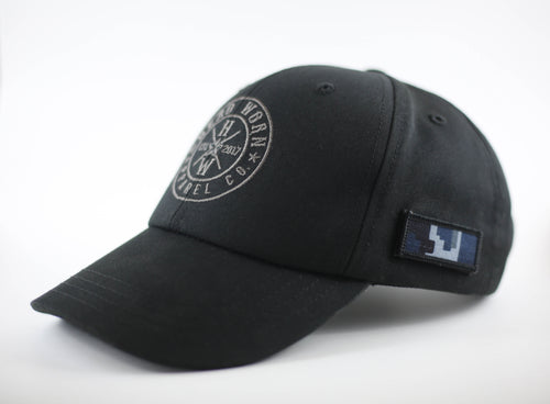 Hero Worn Black Made in USA Unisex hat First Responder Police Military America Army Navy Air Force Marines Coast Guard Firefighter Doctor Nurse Teacher Special Forces Hand Sewn Quality Material Hero Service Operation Home Front Concerns of Police Survivors National Fallen Firefighters Foundation AdoptAClassroom.org
