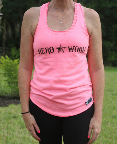 Freedom Pink. French Terry. Racerback Tank