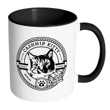Cashnip Kitty Fan Club Coffee Mug Color Handle Black Logo