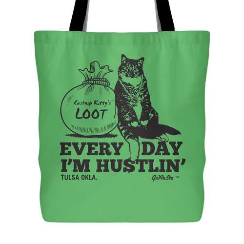 Cashnip Kitty Daily Hu$tle Totes - More tote styles available