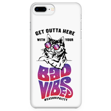Outta Here with Your Bad Vibes iPhone case