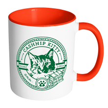 Cashnip Kitty Fan Club Coffee Mug Color Handle Green Logo - More colors and mug styles available