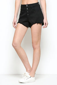Hidden Black High Rise Denim Shorts