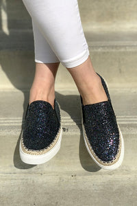 More Than A Feeling Black Glitter Flats - Sizes 6.5 & 7 left!