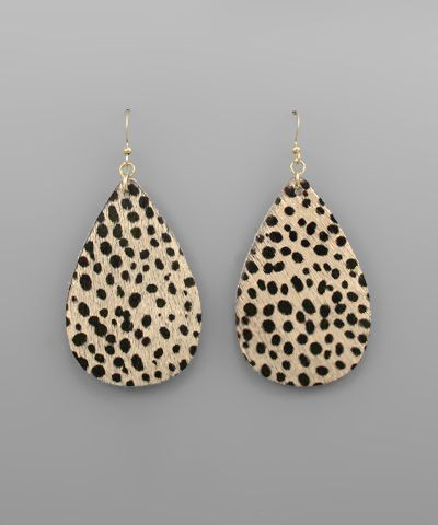 Spotted Cowhide Earrings