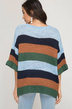 Navy/Green Striped Sweater