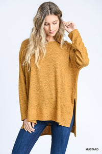 Taupe Oversized Hi-Lo Top (Shown in Mustard) Pre-order