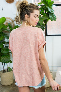 Peach Top with Tie Front