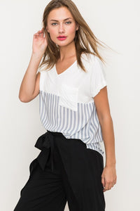 Soft Mixed Striped Top