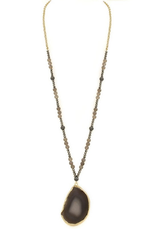 Black/ Grey Stone Necklace