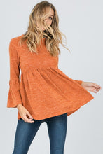 Rust Bell Sleeve Top