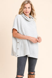 Cowl Neck Pancho Sweater
