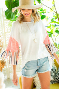 Ruffle Raglan Sleeve Top
