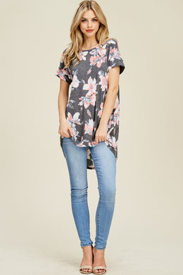 Floral Top in Black
