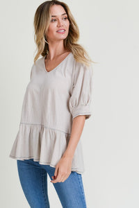 Sand Cotton Top