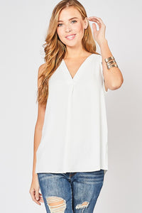 Ivory Sleeveless Top