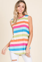 Sleeveless Multi-Colored Striped Top
