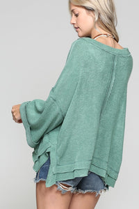 Green Oversized Top