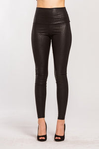 Embossed Snake High Waisted Leggings