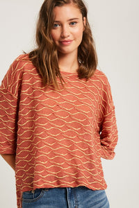 Textured Knitted Top