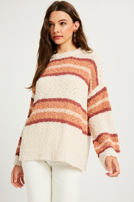 Striped Popcorn Sweater