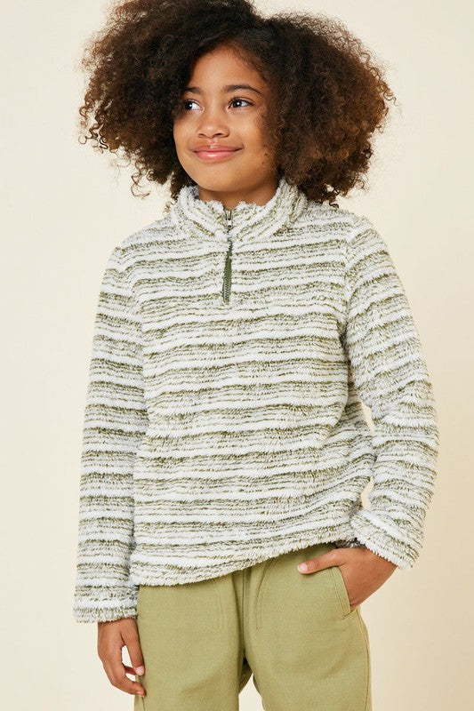 Kids Striped Pullover