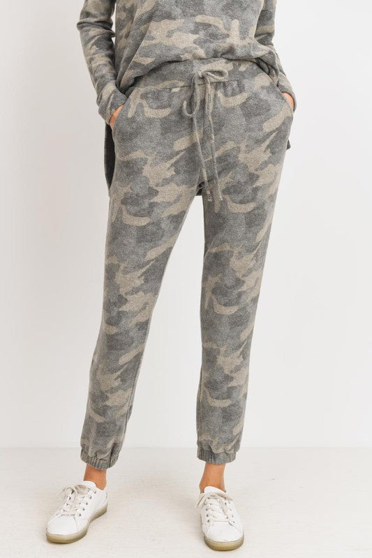 Camo Brushed Joggers