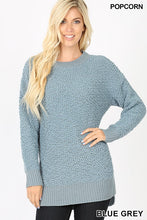 Zenana Popcorn Sweaters (Black, Blue Grey, Cement, Hunter Green, Lt Grey, Lt Olive, Navy)