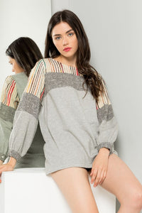 THML Long Sleeve Terry Knit Top (runs small)