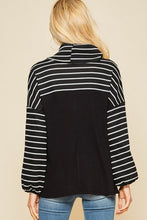 Striped Cowl Neck Sweater