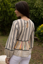 THML Long Sleeve Striped Tiered Top (runs small)