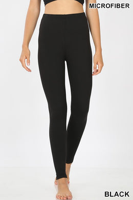 Microfiber Black Leggings