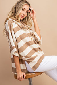 Striped Soft Brush Hacci Top
