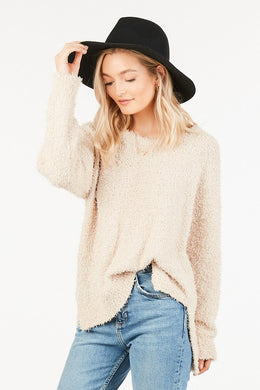 Cream Fuzzy Sweater