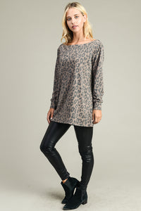 Cheetah Print Tunic (This falls off the shoulder)