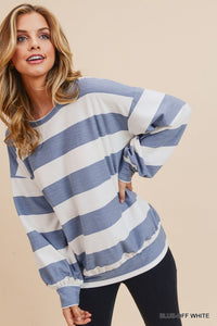 Striped Bubble Top (Available 2/14)